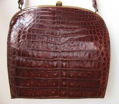 Deitsch 1940's Crocodile Handbag (JoulesVintage) Tags: 1940s purse crocodile forties 40s lateforties vintagepurse deitsch joulesvintage