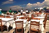Seaside taverna (Marite2007) Tags: blue vacation sky people seascape stone skyline clouds outdoors islands scenery mediterranean traditional aegean scenic picture hellas location greece coastal shore tables environment leisure picturesque seashore cyclades mykonos lpsky