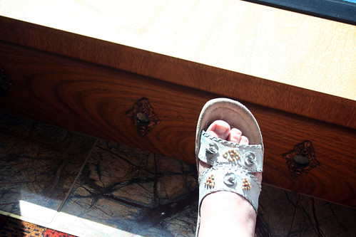 Obligatory Foot Pose (Spa Resting Area - Carnival Splendor)