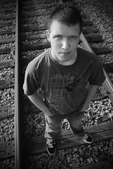 Brandon (Brian Sexton) Tags: railroad student nikon kentucky brian traintracks class highschool graduate 2010 sexton elizabethtown northhardin seniorportrait radcliff d40x vinegrove brandonsexton