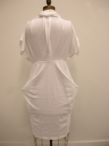 double t-shirt dress - white 004