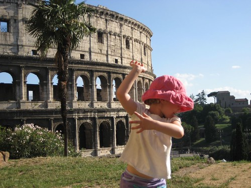 Sophia at the Colosseum