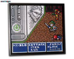 Fire Wall (8-Bit & Beyond) (Doctor Octoroc) Tags: wall photo bill beads box gates 4 evil sprite xbox 360 mario x pearls final fantasy microsoft link bead zelda hama perler metroid samus ff4 photopearls beadsprites