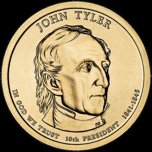 John Tyler, prezidentský 1 dolár, USA 2009