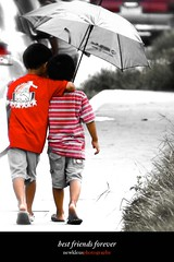 best friends forever (newkleus00) Tags: cute childhood kids umbrella day friendship philippines sunny cebu redshirt bestfriends bff abigfave flickraward