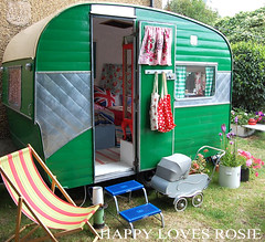 front of holi (HAPPY LOVES ROSIE) Tags: flowers red max green ikea yellow vintage garden happy strawberry deckchair cheeky next retro gingham caravan chic decor unionjack 1950 pram polkadot decorated blighty shabby cathkidston grannyblanket happylovesrosie frenchenamel bluecheck tanyawhelan vintex 2berth fisherholivan happyshabby bellingcooker