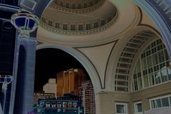Boston Harbor Hotel archway, solarized (BostonPhotoSphere) Tags: boston archway solarized bostonharborhotel