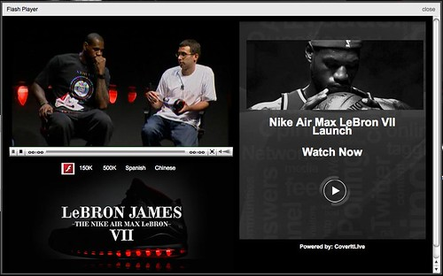 Nike Air Max LBJ VII Live WebCast