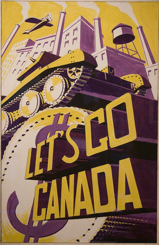 Lets Go Canada - WWII Canadian Patriotic Poster