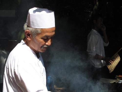 Saté chef at work