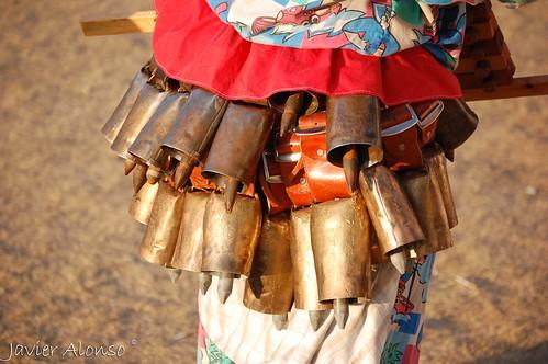 Cencerros,Carnavales de Villanueva de Valrojo en Codesal, Agosto 2009