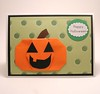 Origami Pumpkin Halloween Card