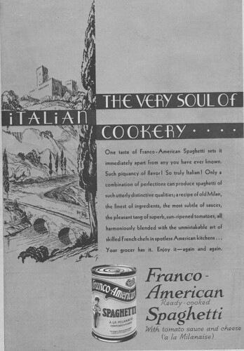 Vintage franco-american spaghetti advertisement