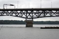 Coleman Bridge as seen from fishing pier at Gloucester Point Beach (Stephen Little) Tags: colemanbridge minoltaaf70210mmf4 virginiabirdingandwildlifetrail gloucesterpointbeach jstephenlittlejr
