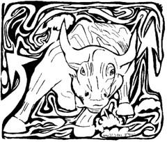 Charging Bull Maze