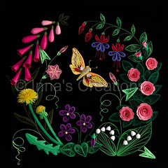 Quilled flowers (Inna's Creations) Tags: flowers roses flower rose butterfly paper artwork handmade hawk crafts decoration moth violet fuchsia insects dandelion violets foxglove petunia decor dandelions lilyofthevalley   filigree quilling