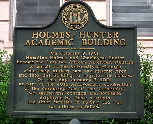 Remembering Holmes and Hunter at the University of Georgia in Athens