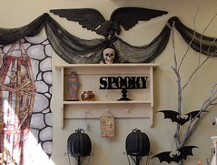 Wall Decor at American Harvest (contrarymary) Tags: halloween skull spooky pleasanton treasures vintagetreasures americanharvest
