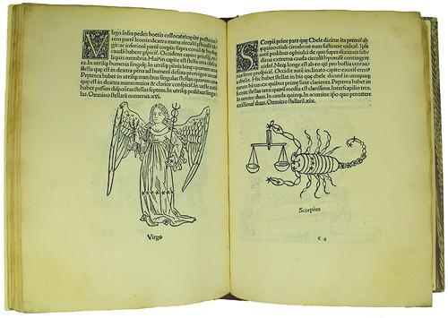 Woodcut initials and illustrations in Hyginus, C. Julius: Poetica astronomica