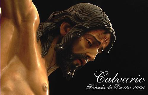Cartel Sábado de Pasión 2009 Cofradía del Calvario