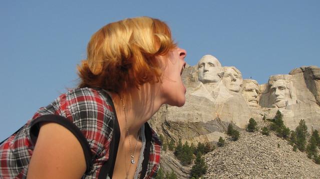 Eating Mount Rushmore
