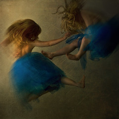 thunder & lightening (brookeshaden) Tags: blue blur fly fight movement kick angels punch lightening thunder tutu selfie brookeshaden texturesbylesbrumes