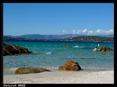 Plage de Corse du Sud (Patchok34) Tags: blue sea summer sun beach soleil corse bleu plage porticcio eté