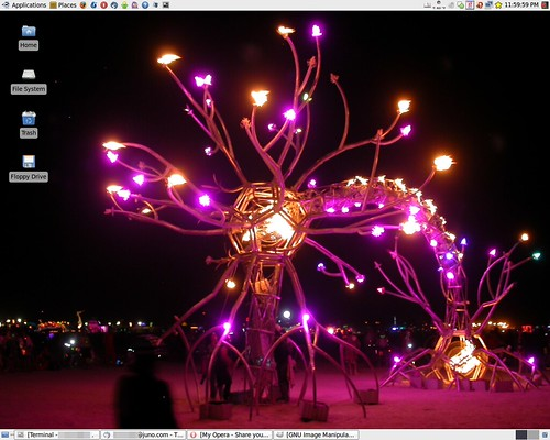 linux desktop wallpaper. Burning Man Linux Desktop