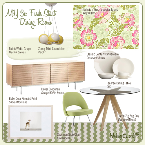 MiY 3e: Fresh Start Dining Room