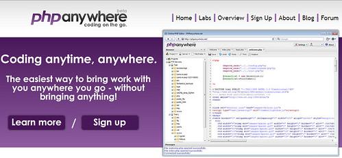在线编辑你的PHP PHPanywhere