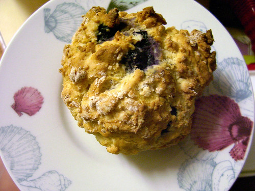 pineapple blueberry muffin