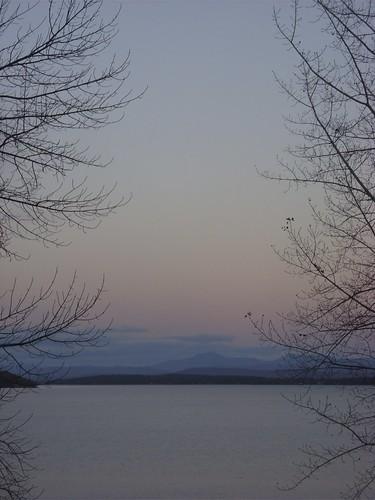 Westport, NY dusk, 10/25/09