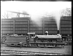 Locomotive Number 62xx at Newcastle Coal Mining Company's A Pit, Newcastle, NSW, [24 February 1899] (Cultural Collections, University of Newcastle) Tags: train newcastle mine engine railway australia nsw locomotive coalmine colliery 1899 apit ralphsnowball snowballcollection ralphsnowballcollection newcastlecoalminingco asgn0803b37 newcastleregionnswhistorypictorialworks photographynewsouthwalesnewcastle railroadsnewsouthwalestrains