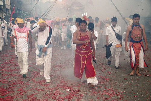 Street procession in Kathu, Phuket during the vegetarian festival