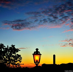 Lamp in the sunset (Capitan Mirino ( il Tartarughino )) Tags: sunset sky italy colors tramonto cielo colori lazio lampione tolfa beautifulphoto