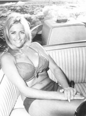 Linda Vaughn looking great in her swimsuit (torinodave72) Tags: girl golden linda nascar firebird miss vaughn pure shifter hurst nhra usac