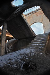 Stairway to Dead Bird Heaven (Uncle Bumpy) Tags: old school west bird abandoned neglect dead hotel humboldt nevada wells nv urbanexploration ghosttown metropolis abandonment elko