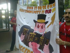 FUREE at the Wall Street action. Fighting back Bloomberg's cut backs furee onmay12