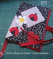 Capa de bblia (Ateli Ma do Amor - By Carol Lidman) Tags: arte amor artesanato beb boneca patchwork bolsa tilda camiseta joaninha tecido