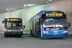 "You hear that Nova? I'm ""Better By Design"" (BusShots) Tags: transit translink metrotown newflyer hyrbid xcelsior newflyerxde40 metrotownstn demobus xde40 alocarims"