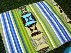 Triangles and Squares Quilt Back