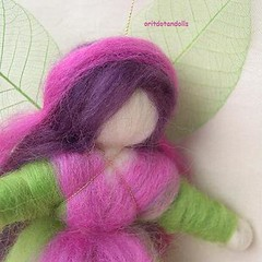 Needle felted wool blessing fairy, wall hanging art doll, made of natural merino wool and hand painted merino wool-oritdotandolls-      -  - (orit dotan) Tags: wool oritdotandolls      waldorfeducation woolfairies  wooldollsneedlefeltedfairies handpaintedwoolecologicalcolors