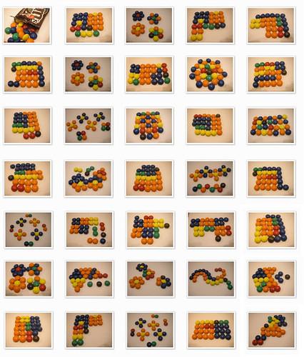 Mosaico de M&Ms