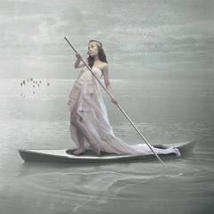 ...SAD JOURNEY... (ken_pogs) Tags: old sea portrait white selfportrait birds lady self vintage boat philippines calm textures faded filipina lovely kenpogs