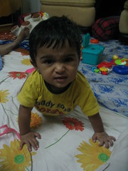 Aten tries to get on his knees (Ankur P) Tags: baby kids twins fraternal