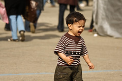 Scream (hapal) Tags: boy portrait book child iran fair rage scream scowl iranian tehran          canoneos40d  hamidnajafi