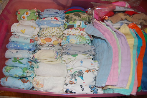 Packing away the Newborn diapers