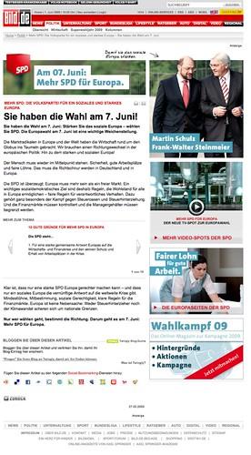 SPD-Werbung bei BILD.de
