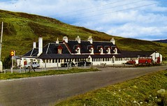 Aultguish Inn (Neil F King) Tags: bus ford austin hotel scotland inn postcard renault 1100 petrolstation consul a835 aultguish