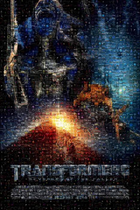 Transformers 2 poster Mosaice-d